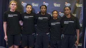 The New York Liberty defeat the San Antonio Stars, 75-65, at Madison Square Garden in New York City, July 10, 2016.